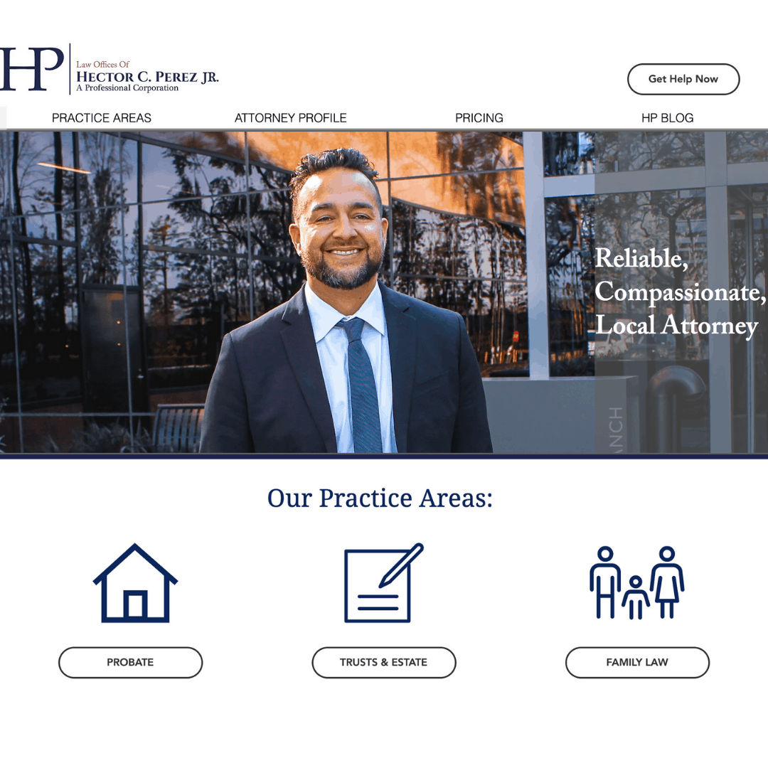 THE LAW OFFICES OF HECTOR C. PEREZ JR. - Digital Marketing Agency Client