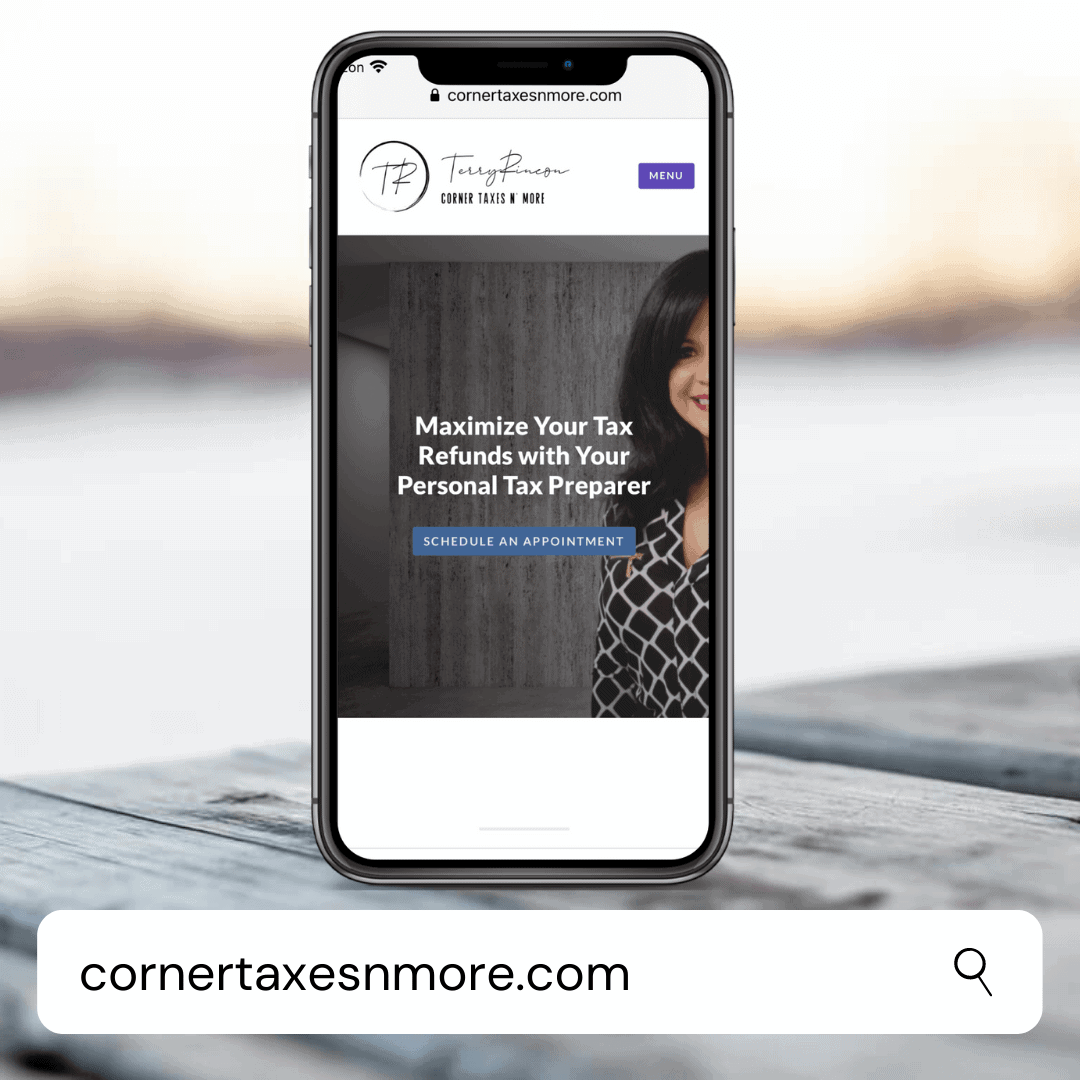 TERRY RINCON CORNER TAXES N' MORE - Digital Marketing Agency Client